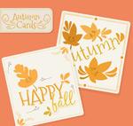 秋季树叶卡片