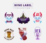 彩绘葡萄酒标签