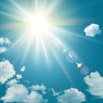 阳光灿烂的天空