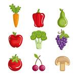 健康蔬菜和水果