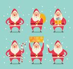 雪中的圣诞老人