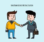 握手的商务男子