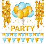 派对气球和装饰物