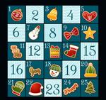 彩绘圣诞节月历