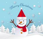 白色圣诞雪人矢量