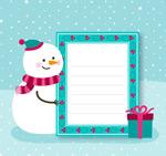 圣诞雪人装饰信纸