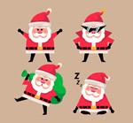 可爱时尚圣诞老人