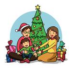 圣诞家庭矢量