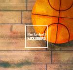 彩绘地板上的篮球