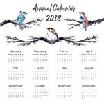 树枝鸟2018年历