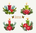 圣诞节蜡烛矢量