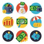 创意金融元素图标