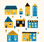 创意彩色房屋