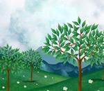 树林草地风景
