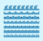 蓝色海浪矢量