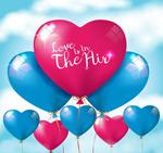 爱心气球矢量