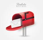 红色信箱和信件