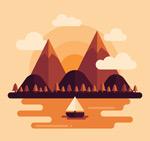 山与河流风景