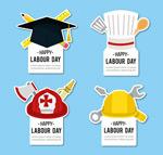劳动节帽子标签