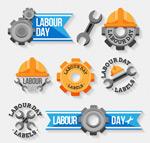 劳动节标签矢量