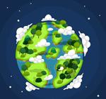 树木覆盖的地球