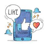 手机脸书点赞插画