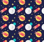 火箭和星球背景