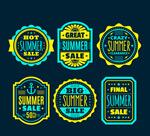 夏季促销标签矢量