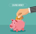 粉色小猪存钱罐