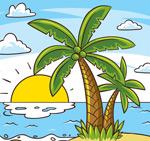 棕榈树大海风景