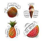 夏季食物促销标签