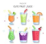 彩色夏季水果汁