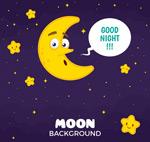 卡通月亮和星星