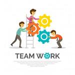团队合作插画