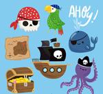 卡通海盗元素矢量