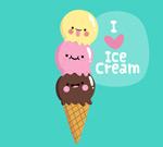 卡通表情冰淇淋