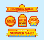 夏季促销标签