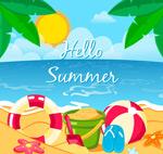 夏季沙滩度假风景