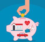 猪存钱罐插画