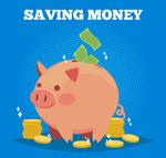 小猪储蓄罐矢量