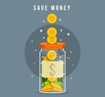 透明存钱罐矢量