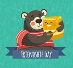 抱着蜂蜜的熊