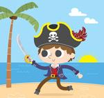 挥刀的海盗矢量