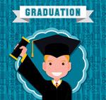毕业男生贴纸