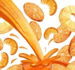 美味橙子和橙汁