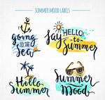 夏季假期艺术字