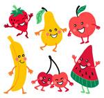 卡通笑脸水果