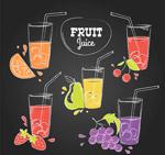 水果和杯装果汁