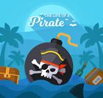 海盗炮弹和宝箱