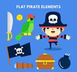 扁平化海盗元素